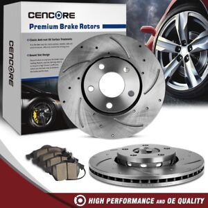Front 2 Drilled Slotted Brake Rotors Ceramic Pads For 98 05 Volkswagon Audi