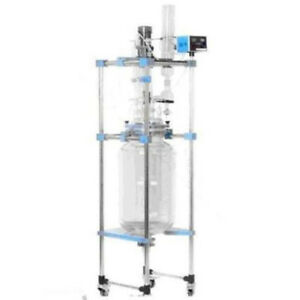 10l Chemical Lab Jacketed Glass Reactor Vessel Digital Display