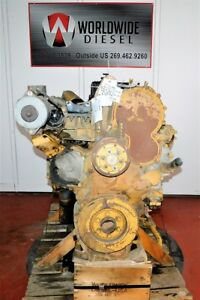 Cat C15 Mbn Engine Take Out 475hp 70 Pin Ecm Turns 360 Good For Rebuild Only