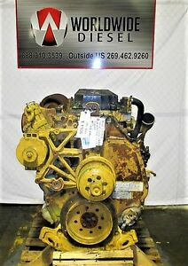 2006 Cat C13 Kcb Diesel Engine Take Out 525hp Turns 360 Good For Rebuild Only