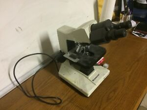 Fisher Scientific Micromaster Microscope With Pl Objectives Very Nice Condition