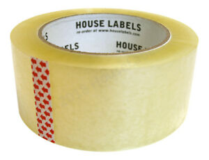 72 Rolls Of Clear 2 X 110 Yds 330 Ft 2mm Packing Shipping Strong Sealing Tape