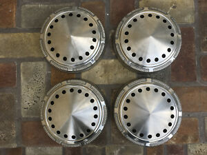 Mopar Police Style Dog Dish Poverty Hub Caps Set Of Four