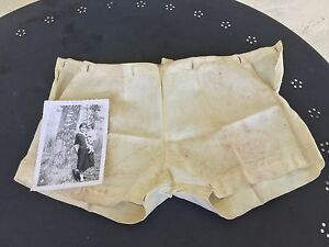 Antique Infant Diaper Cover Baby Britches Bloomers Clothes And Photograph