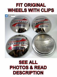 Set 4 Stainless Steel Hubcaps For 1941 48 Chevrolet Car Pickup Truck