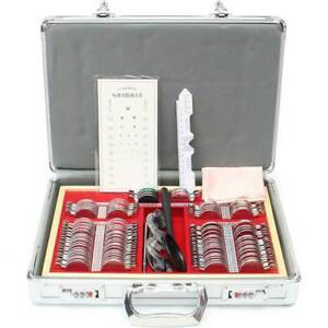 104pcs Optical Lens Optometry W Free Optometry Test Trial Frame Box Case Kit