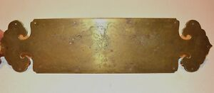 Fine Vintage Chinese Engraved Double Dragon Brass Furniture Cabinet Hardware
