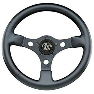 Empi 79 4036 Formula Steering Wheel Black 3 spoke 13 Diameter 3 Dish