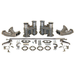 Empi 47 7429 Dual 51 Epc Carburetor Kit With Race Manifolds Hex Bar Linkage