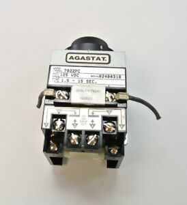 Agastat 7022pc Time Delay Relay 120v Dc 1 5 15 Seconds