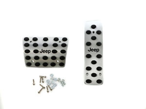 Engraved Aluminum Pedals For All Jeep Vehicles With Automatic Transmission At