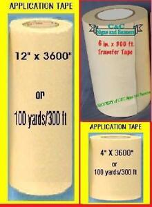 12 6 4 Application Transfer Paper Tape 100 Yd Roll For Vinyl Cutter Plotter