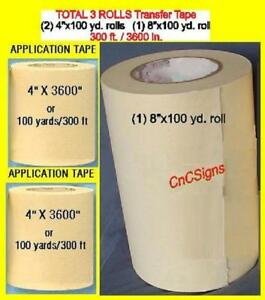8 4 4 Rolls Application Transfer Paper Tape For Vinyl Cutter Plotter
