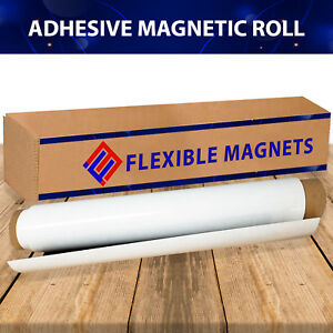 24 X 10 Roll Flexible Magnetic Sheet For Sign Adhesive 30 Mil Thick