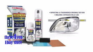 Headlight Restore Headlamp Lens Cleaning Kit Plastic Lamp Restorer Crystal Clear