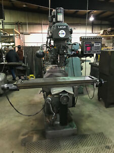 Lagun Ftv 2 s e Prototrak 3 Axis Dro Power Draw Bar 3 Hp 10 X 50 Table 1988