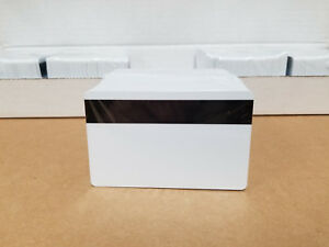 100 White Hico Mag Pvc Cards Cr80 30 Mil 3 Track Magnetic Stripe Usa Shipping