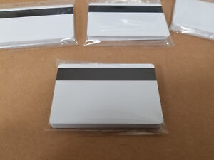 10 White Hico Mag Pvc Cards Cr80 30 Mil 3 Track Magnetic Stripe Usa Shipping