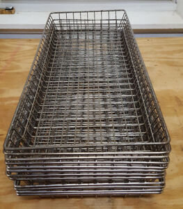 12 Donut Frying Glazing Mesh Basket Wire Screens 10 1 2 X 26 1 2 X 2 1 4