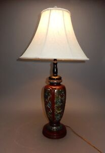 Antique Large Japanese Bronze And Cloisonn Vase Mounted As Lamp