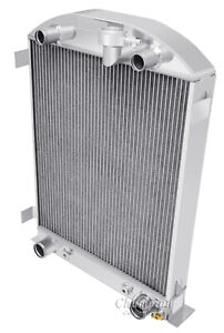 1932 Ford High Boy Flathead Configuration Aluminum Radiator 3 Row Champion