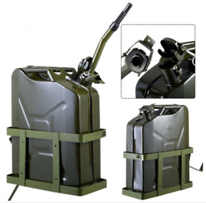 Jerry Can 5 Gallon 20l Gas Gasoline Fuel Nato Military Metal Steal Tank Holder