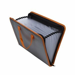 Expandable Portable Hand held Accordion File Document Folder File Organizer A4