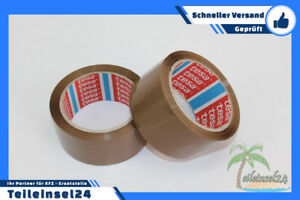36 Casters Tesa Packing Tape 64014 Pp Quiet Adhesive Braun 1 31 32in X 216