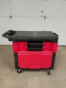 Rubbermaid Push Hand Utility Office Lab Industrial Cart W Cabinet 6180 88