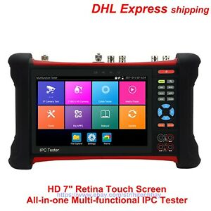 X7 Series Hd 7 4k 8mp All in one Multi functional Ipc Tester Cctv Monitor H 265