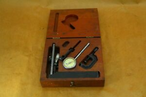 Brown Sharpe Storage Case W Indicator 7040 Base Clamp And Assortments