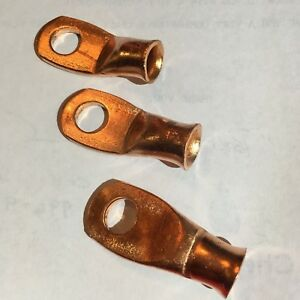 Bp307 Standard Cooper Lugs For 4 Ga Battery Cable Lug Lot Of 3 Loc Sta