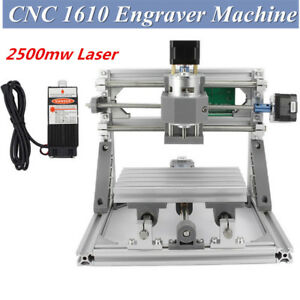 Mini Cnc 1610 2500mw Laser Cnc Engraving Machine Pcb Milling Wood Router