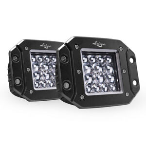 Mictuning Pair 5 Quad row Led Pods Flush Mount Spot Offroad Driving Lights 42w