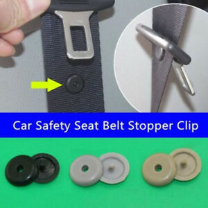 Fasteners Safety Black Seat Belt Stopper Limit Buckle Stop Button Retainer