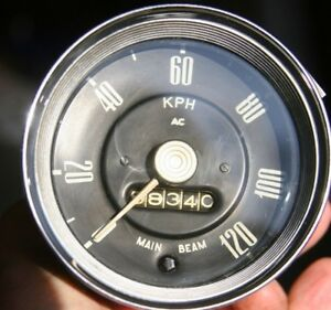 Ac 120 Kph Mechanical Speedometer Vintage