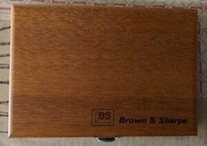 Brown And Sharpe 599 540 9995 Wood Case