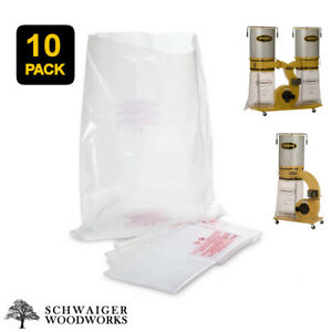 10 Plastic Dust Collector Lower Bags For Powermatic Pm1300 Pm1300tx Pm1900