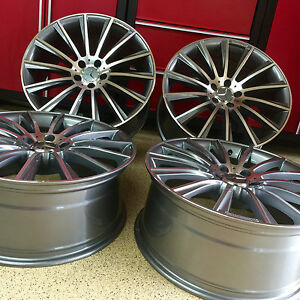 Mercedes 17 Inch C63 Gunmetal New Rims Wheels Exclusive C300 C250 Fitment Amg