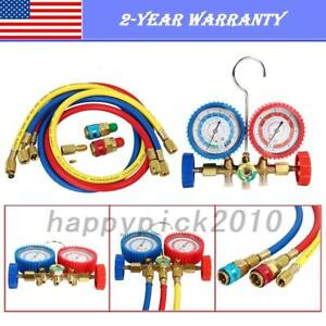 Refrigeration Charging Manifold Gauge Sets Hvac A c Tools R134a R12 R22 R502 3ft