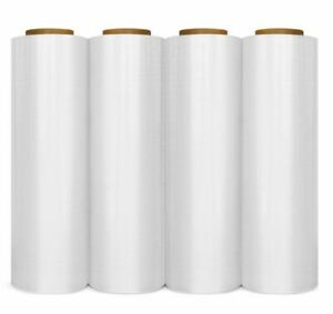 12 Rolls Hand Stretch Wrap Shrink Film Banding 17 X 1500 X 86 4 Ga