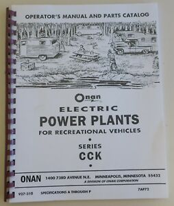 Onan Rv Pwr Plants Cck Ops Parts Manual Troubleshooting 927 310 Print