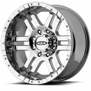 Set 4 17 Moto Metal Mo951 Chrome Wheels 17x9 8x6 5 12mm Chevy Gmc Dodge 8 Lug