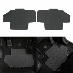 Pair Rear Rubber Floor Mats Protector Set For Jeep Wrangler Jk 2 Door 2007 2018