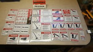 Hydraulic Crane Decal Packet kit