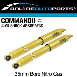2 Rear Shock Absorbers Suit Jeep Cherokee Xj 1994 2001 4x4 4wd Nitro Gas