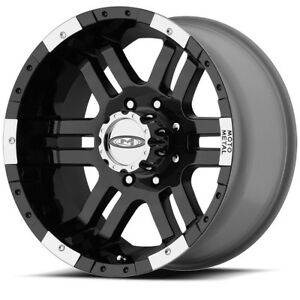 Set 4 18 Moto Metal Mo951 Black Machined Rims 18x9 8x170 12mm Ford F350 8 Lug