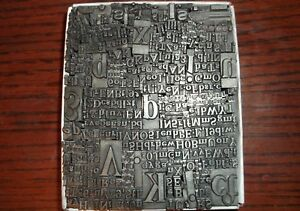 No.74 LOT OF 630+ PIECES LETTERPRESS PRINTERS TYPE LETTERS NUMBERS LEAD BLOCKS
