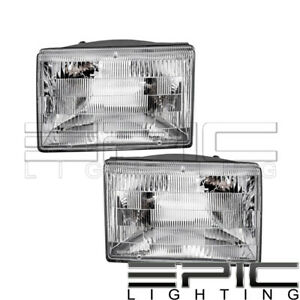 1993 1998 Jeep Grand Cherokee Headlights Headlamps Left Right Sides Pair