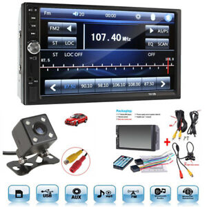 7 Touch Screen Bluetooth Radio Audio Stereo Car Video Player Hd Camera Classic